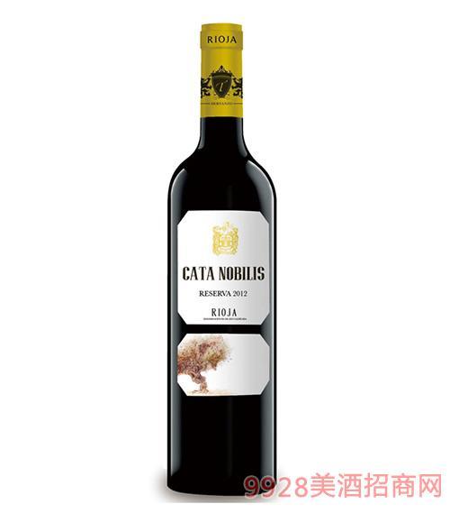 凯特公爵珍藏干红葡萄酒2012