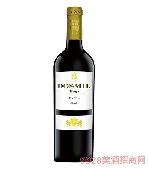 多斯米尔干红葡萄酒2016