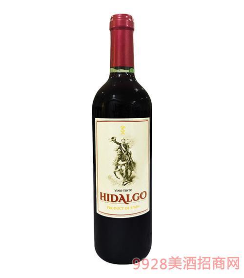 贵 族骑士干红葡萄酒2016