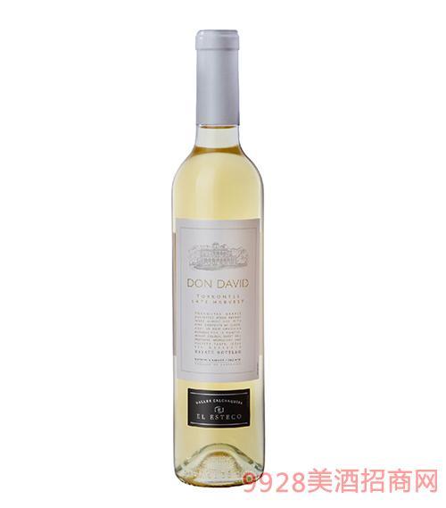 艾斯德科唐大卫系列特浓情晚收白葡萄酒13.5度500mlx6