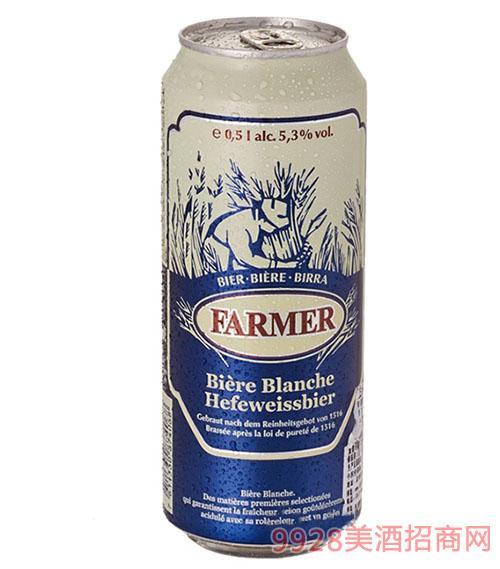 庄园主小麦白啤酒500ml