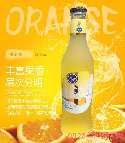 橙子味超彩鸡尾酒3.8度275ml