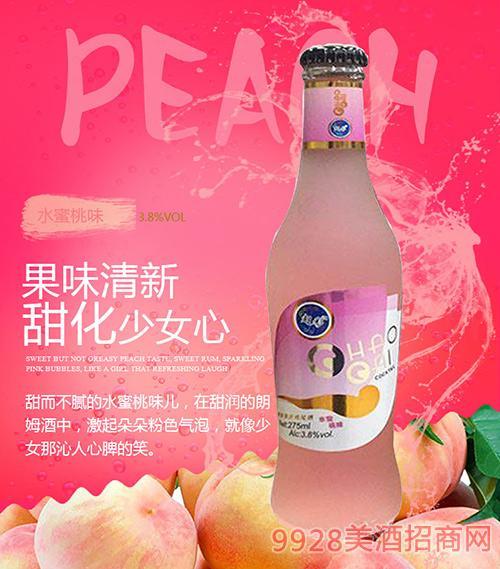 水蜜桃味超彩鸡尾酒3.8度275ml
