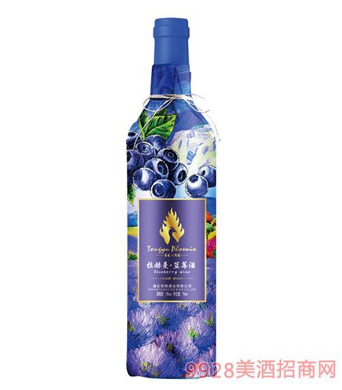 通裕拉赫曼蓝莓酒12度750mlx6