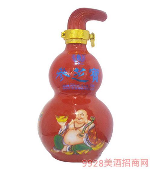 葫芦瓶参芝宝酒(红)