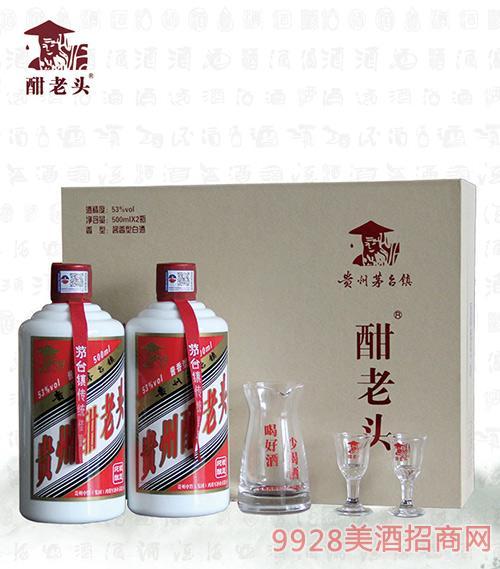 鸿将军酣老头酒53度500mlx2