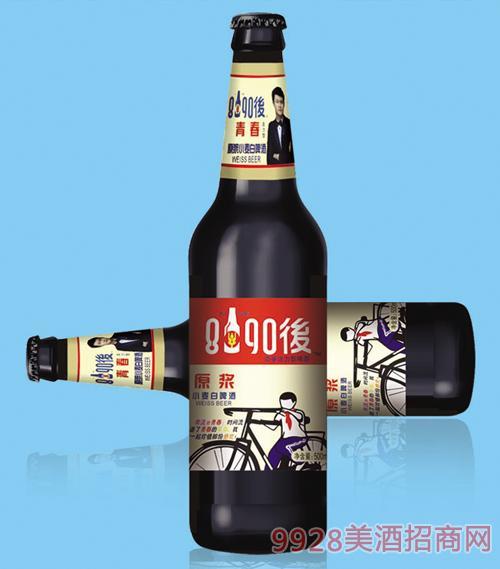 8090后啤酒白啤500mlx12