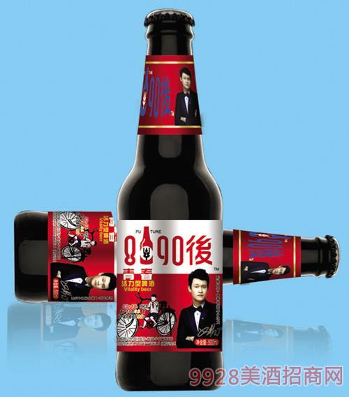8090后啤酒红标330mlx24