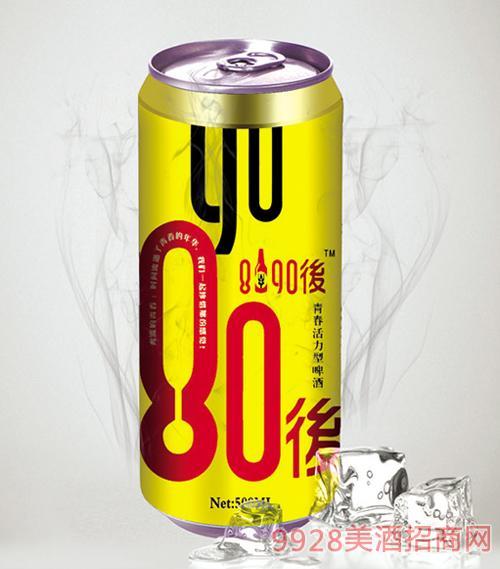 8090后啤酒金罐500mlx12