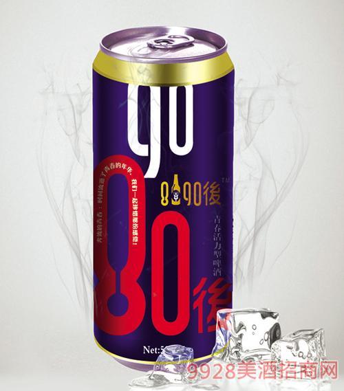 8090后啤酒蓝罐500mlx12