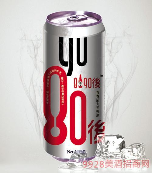 8090后啤酒银罐500mlx12