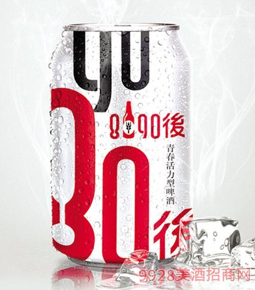 8090后啤酒银罐330mlx24