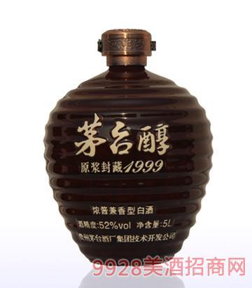 茅台醇酒原浆封藏1999-52度5L浓酱兼香型白酒