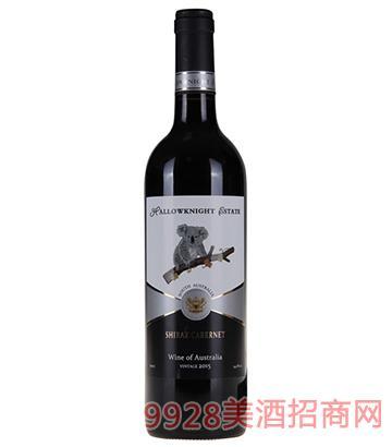 圣骑庄园树袋熊西拉子赤霞珠干红葡萄酒