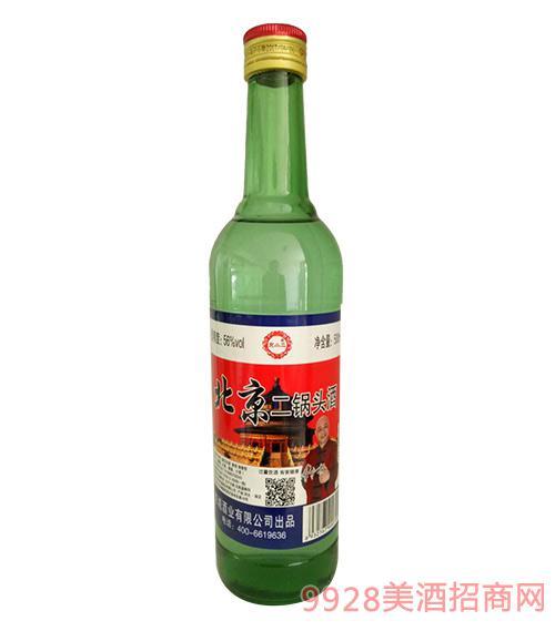 京小二北京二锅头酒(绿瓶)56度500ml