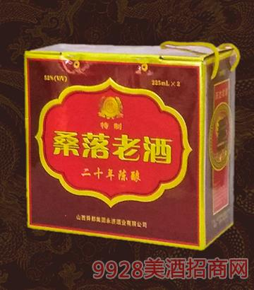 桑落老酒20年陈酿箱装52度225mlx2