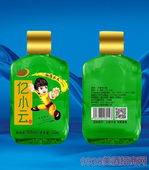绿瓶亿小云酒42度100ml