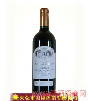 法国波尔多上梅多克拉图卡特城堡干红葡萄酒