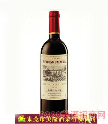 法国波尔多荰蛤魔坊美隆城堡干红葡萄酒