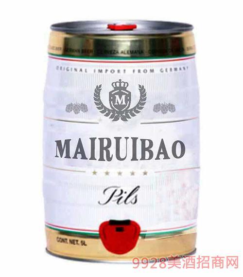 麦瑞堡啤酒桶装5L
