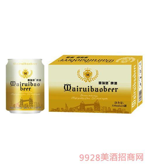麦瑞堡啤酒金罐330ml×24