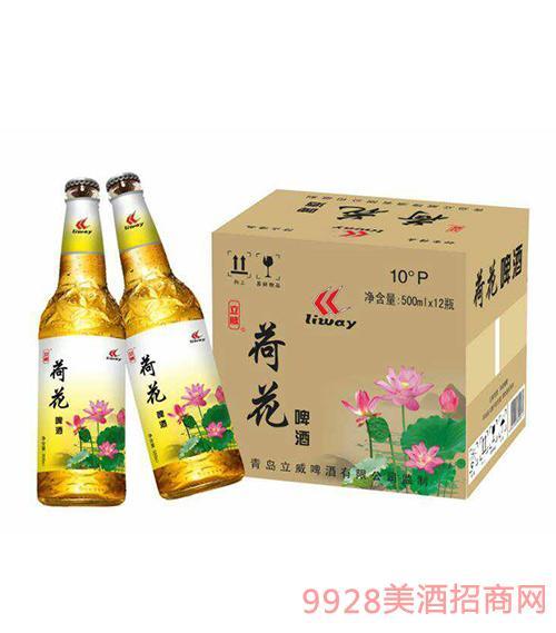 立威荷花啤酒10度500ml×12