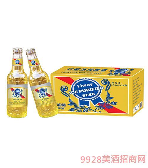 立威冰纯啤酒黄金标330ml×24