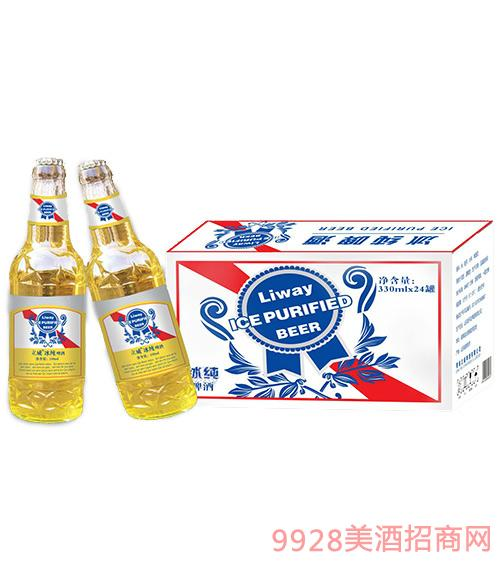 立威冰纯啤酒白金标330ml×24