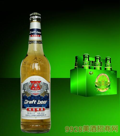 瀾滄江純生啤酒大瓶