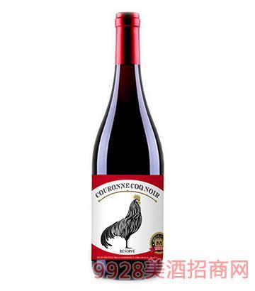 皇冠黑公鸡珍藏干红葡萄酒