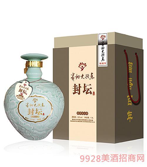 贵州大兴东酒封坛荷花1500ml