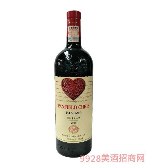 奔富克�斯520西拉子干�t葡萄酒