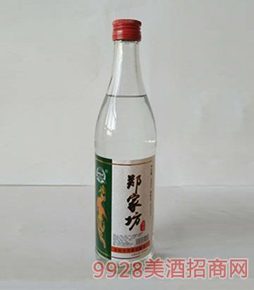 郑家坊酒光瓶白酒绿标