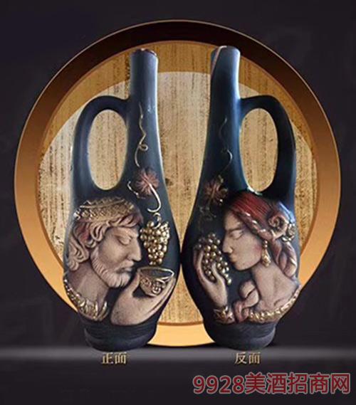 格鲁吉亚萨佩拉维品味国王王后KV59干型葡萄酒陶罐装12.5度750ml