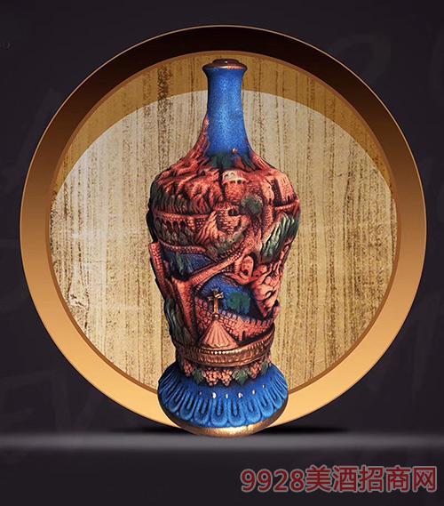 格鲁吉亚萨佩拉维KV56干型葡萄酒陶罐装12.5度1500ml