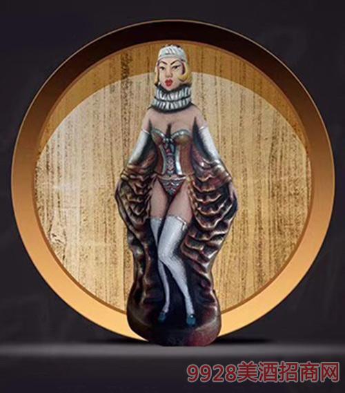 格鲁吉亚萨佩拉维美杜莎少女KV55干型葡萄酒陶罐装12.5度1000ml