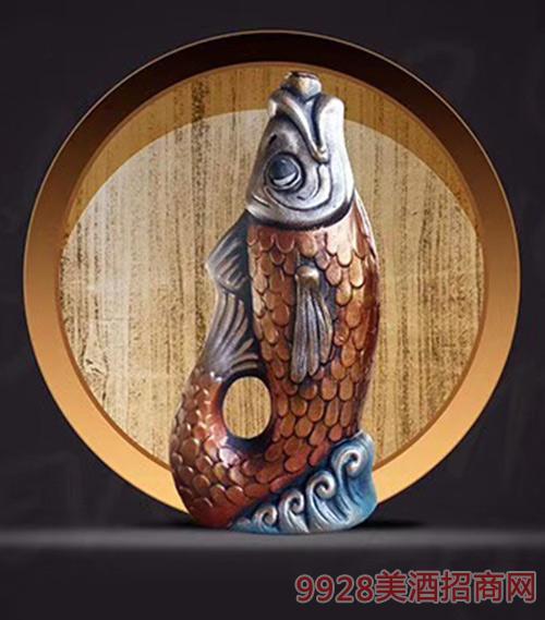格鲁吉亚萨佩拉维金鱼KV53干型葡萄酒陶罐装12.5度750ml
