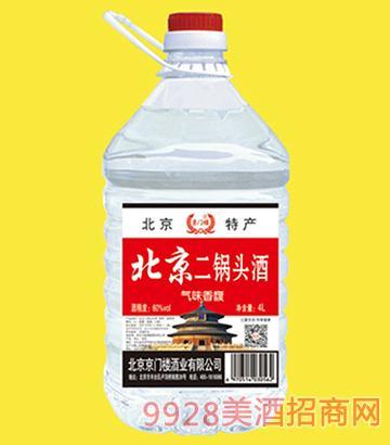 京门楼北京二锅头酒桶装60度4LX4