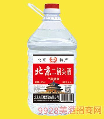 京门楼北京二锅头酒桶装42度4.5Lx4
