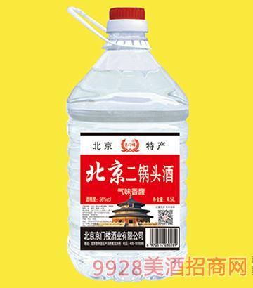 京门楼北京二锅头酒桶装56度4.5Lx4