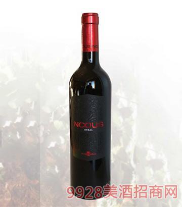 西班牙努都斯干红葡萄酒13度750ml