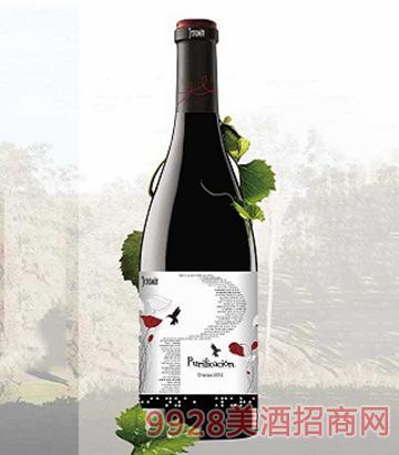 西班牙抵魄力非卡雄干红葡萄酒13.5度750ml