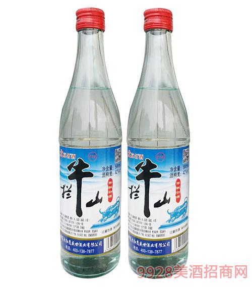 拦牛山陈酿白酒42度500ml蓝白标