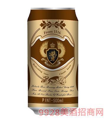 科�_拉啤酒500ml金