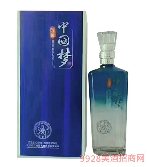 夜之蓝6星级中国梦酒42度480ml