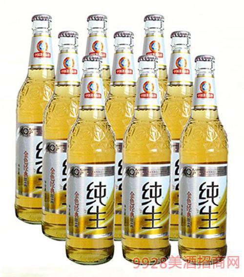 纯生喜丽啤酒透明瓶500ml×9瓶