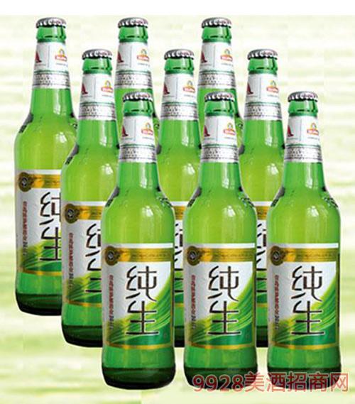 喜丽纯生啤酒绿瓶500ml×9瓶