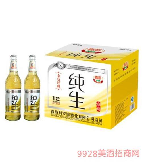 喜丽纯生啤酒500ml