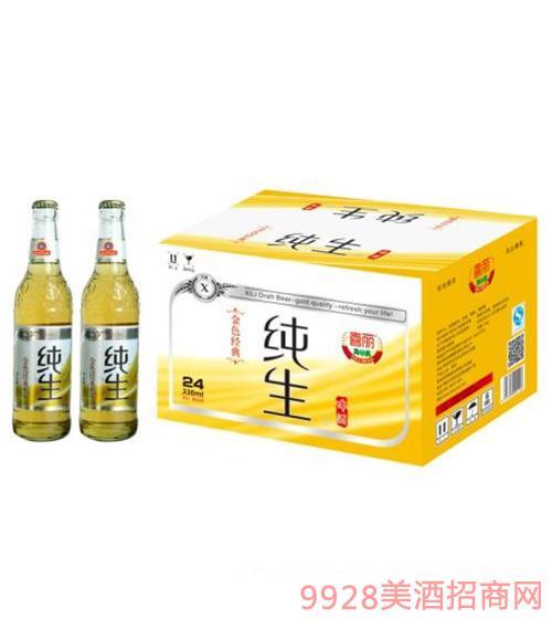 喜丽纯生啤酒金色经典330ml