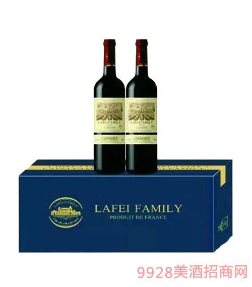 法国拉菲家族美乐干红葡萄酒(裸瓶)